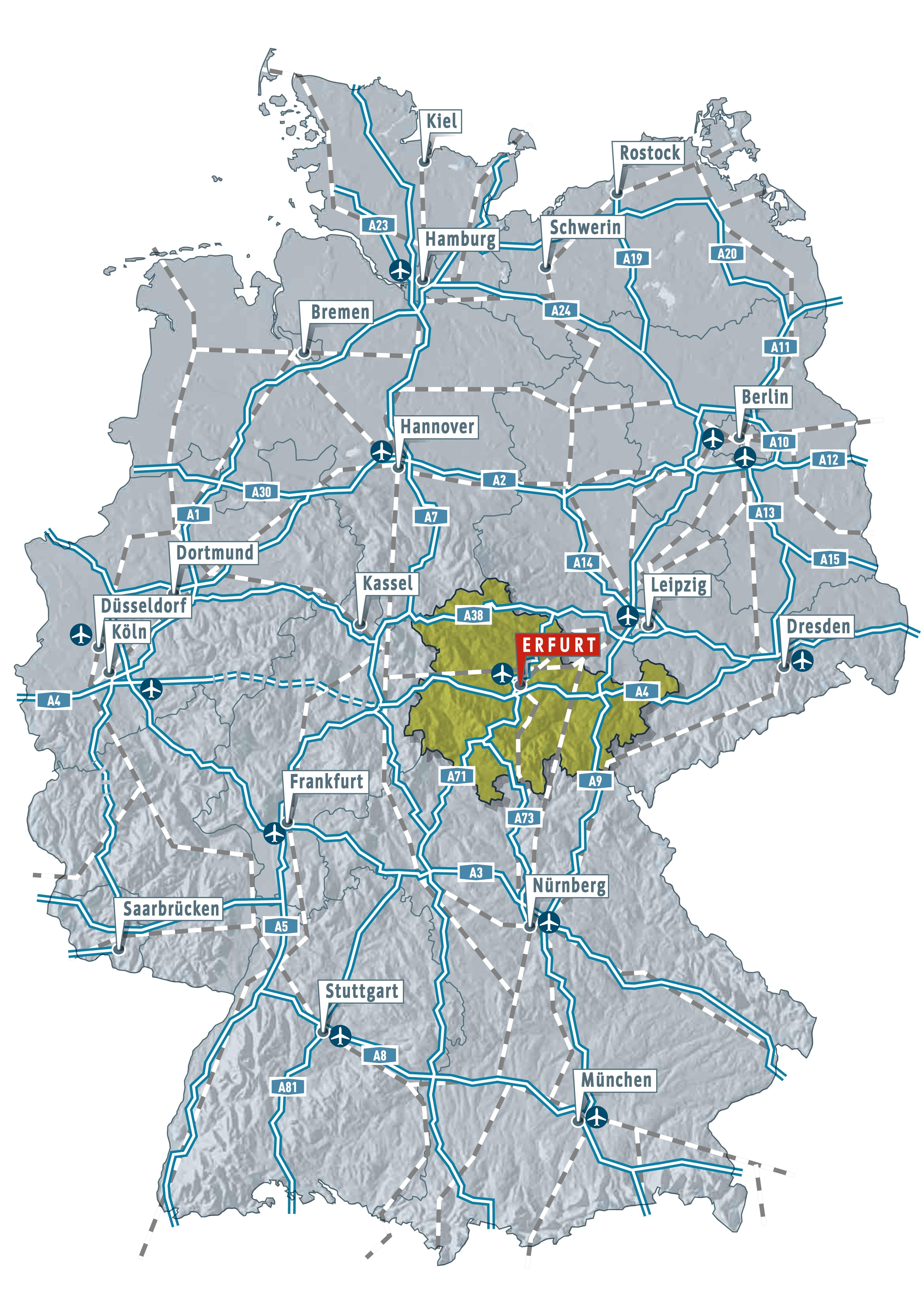 Lage Und Anreise Kongressstandort Erfurt Erfurt Tourismus